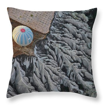 Air Balloon Throw Pillows