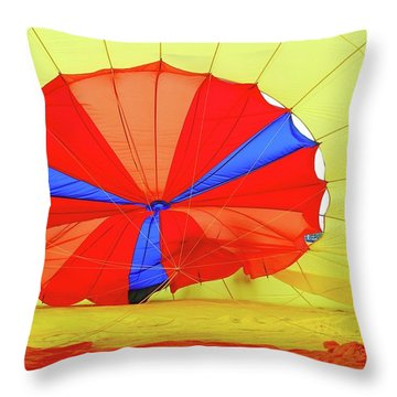 Throw Pillow featuring the photograph Balloon Fantasy   1 by Allen Beatty