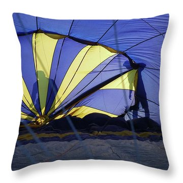 Throw Pillow featuring the photograph Balloon Fantasy 4 by Allen Beatty