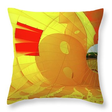 Throw Pillow featuring the photograph Balloon Fantasy 6 by Allen Beatty