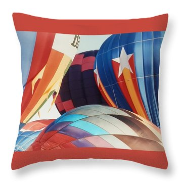Throw Pillow featuring the photograph Miami Balloon Fesitval by Belinda Lee