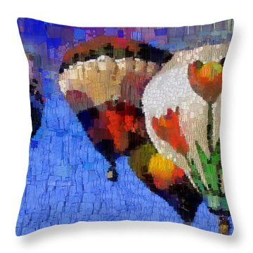 Balloon Fiesta Throw Pillow by Georgi Dimitrov