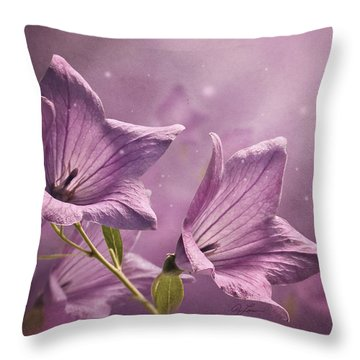 Balloon Flowers Throw Pillow
