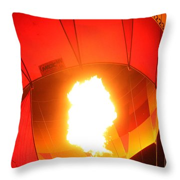 Balloon-glow-7917 Throw Pillow by Gary Gingrich Galleries