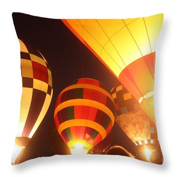 Balloon-glow-7950 Throw Pillow by Gary Gingrich Galleries