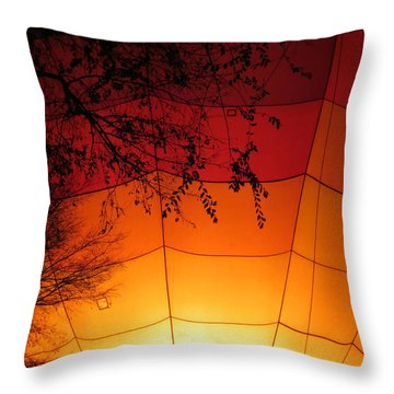 Balloon Glow Throw Pillow by Laurel Powell