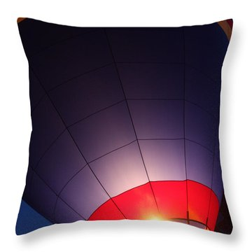 Balloon-glowpurple-7710 Throw Pillow by Gary Gingrich Galleries