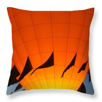 Balloon-glowyellow-7689 Throw Pillow by Gary Gingrich Galleries