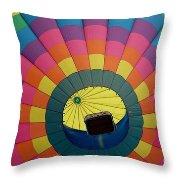Throw Pillow featuring the photograph Balloon Lift-off  by Patrick Shupert
