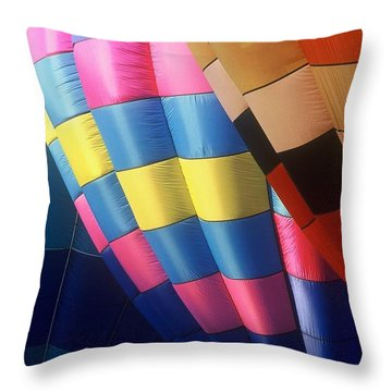 Throw Pillow featuring the photograph Balloon Patterns by Rodney Lee Williams