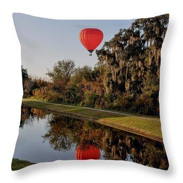 Balloon Reflection Throw Pillow by John Black