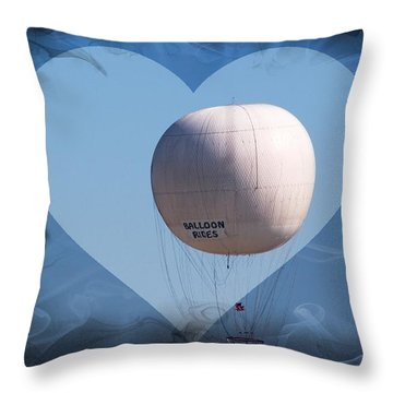 Throw Pillow featuring the photograph Balloon Rides by Bob Pardue