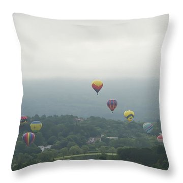 Balloon Rise Over Quechee Vermont Throw Pillow
