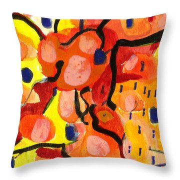 Balloons At Mid-day Throw Pillow by Stephen Lucas