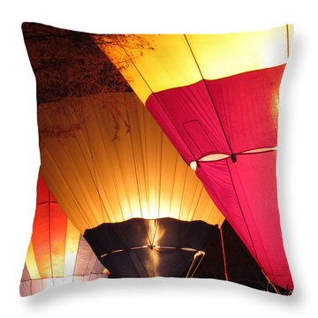 Balloons At Night Throw Pillow by Laurel Powell