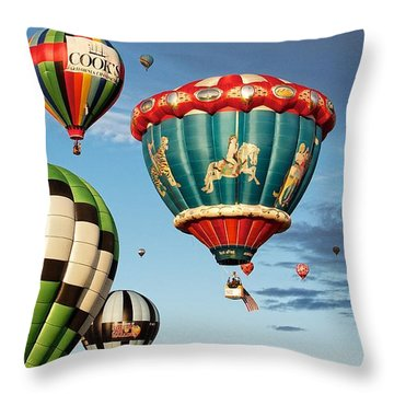 Throw Pillow featuring the photograph Balloons Away by Dave Files