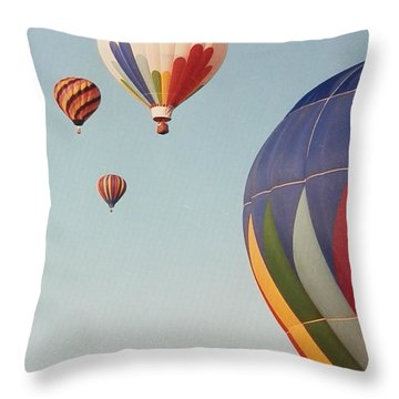 Throw Pillow featuring the photograph Balloons High In The Sky by Belinda Lee