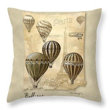 Balloons With Sepia Throw Pillow