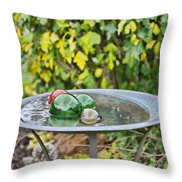 Balls In Water Throw Pillow by Denise Romano