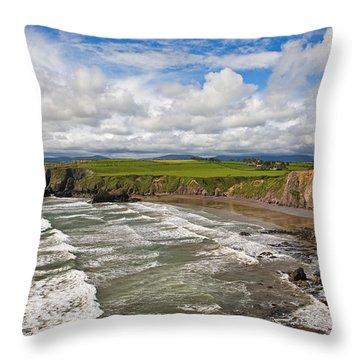 Ballydowane Cove On The Copper Coast Throw Pillow