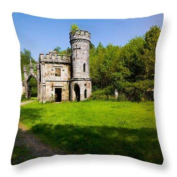 Ballysaggartmore Towers, Lismore Throw Pillow