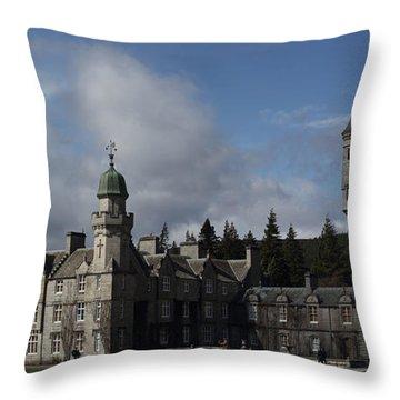 Balmoral Castle In A Closeup Panorama Throw Pillow