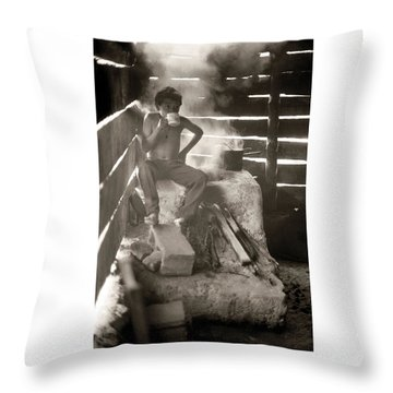 Throw Pillow featuring the photograph Baltazar Dominguez by Tina Manley