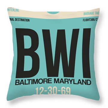 Baltimore Airport Poster 1 Throw Pillow