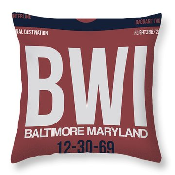 Baltimore Airport Poster 2 Throw Pillow