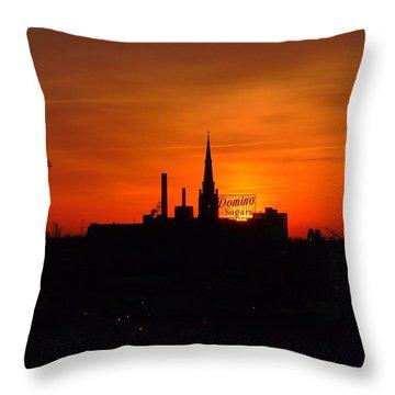 Baltimore Dawn Throw Pillow by Robert Geary
