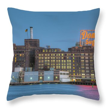Baltimore Domino Sugars Plant I Throw Pillow