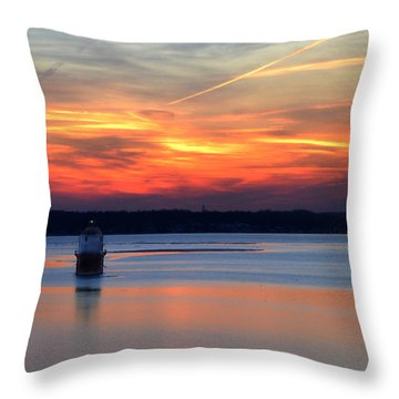 Baltimore Light At Gibson Island Throw Pillow