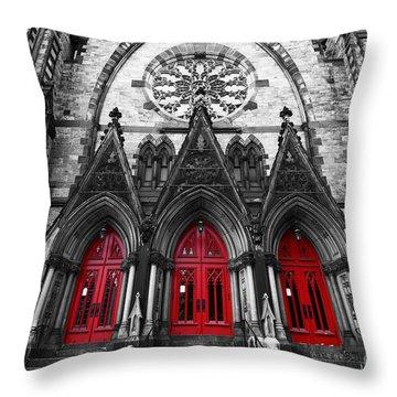 Baltimore Mount Vernon United Methodist Church Throw Pillow