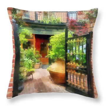 Baltimore - Restaurant Courtyard Fells Point Throw Pillow