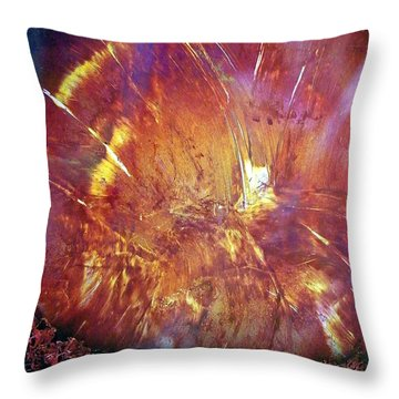 Bam-what Happened Throw Pillow