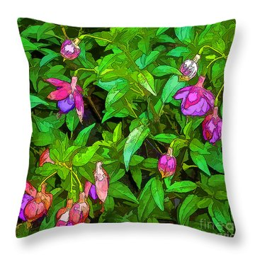 Bama Blooms Throw Pillow