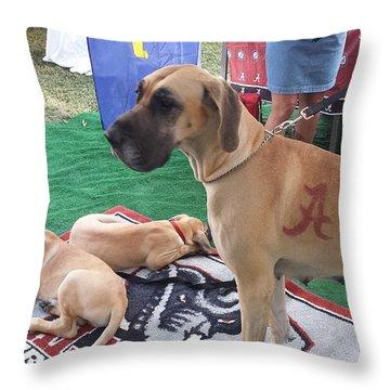Bama Great Dane Throw Pillow