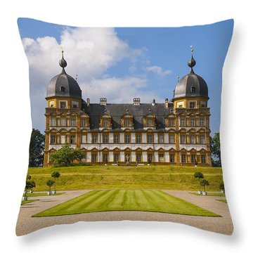 Bamberg Castle - Germany Throw Pillow by Gary Grayson