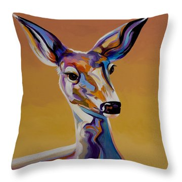 Throw Pillow featuring the painting Bambi by Bob Coonts