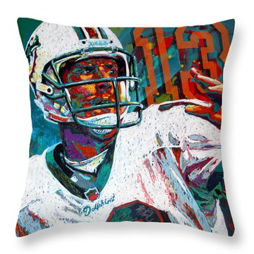 Bambino D'oro Dan Marino Throw Pillow by Maria Arango