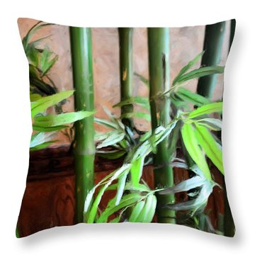 Throw Pillow featuring the photograph Plant -  Bamboo  -  Luther Fine Art by Luther Fine Art