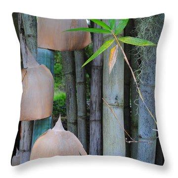 Bamboo Bells Throw Pillow