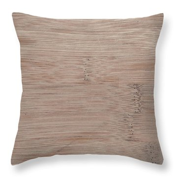 Bamboo Cutting Board Background Throw Pillow by Brandon Bourdages