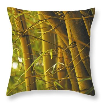 Bamboo Gold Throw Pillow