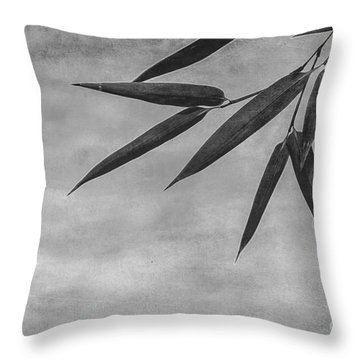 Bamboo - Gray Throw Pillow by Hannes Cmarits