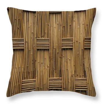 Bamboo Throw Pillow by Jacqui Boonstra