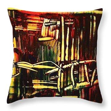 Bamboo Throw Pillow by Janice Nabors Raiteri