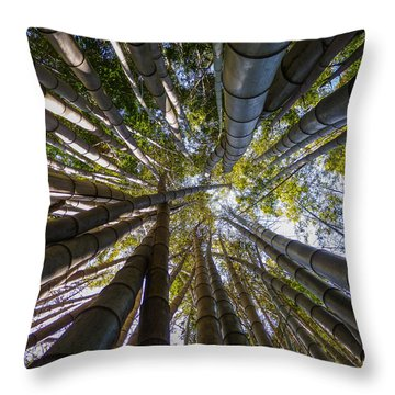 Bamboo Jungle Throw Pillow