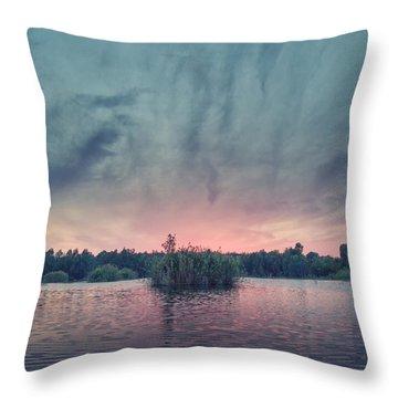 Bamboo Lake Throw Pillow