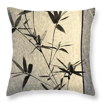 Bamboo Leaves Throw Pillow